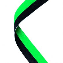 GREEN/BLACK RIBBON TWO COLOUR